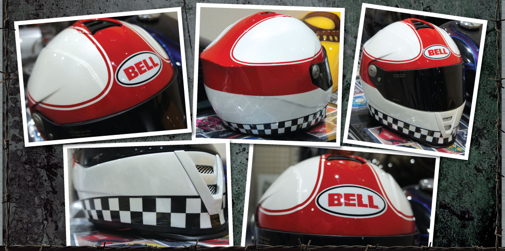 Bell checkered lid