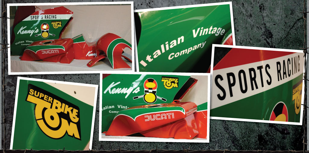Classic Ducati set. Italian Vintage Company. Superbike Tom, Kenny's, Sports Racing