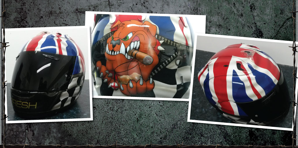 Presh bulldog whiskey helmet